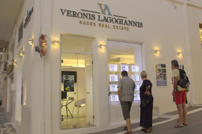 Veronis Lagogiannis Naxos Real Estate shop